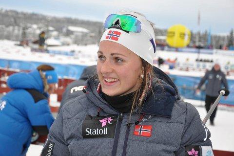 BLID: Barbro Kvåle var strålende fornøyd med åpningsrennet.