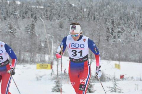 FULL FRES: Barbro Kvåle gikk en råsterk ti-kilometer.