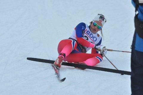 TOK UT ALT: Barbro Kvåle var dyktig sliten, men glad over et godt løp.