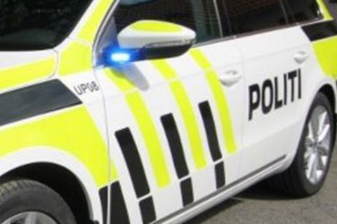 Politiet måtte ta hånd om den sparkende mopedkjøreren.