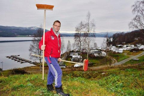 driver: Jan Morten Hagen (51), skal sammen med sin kone stå for driften av Krøderen camping.