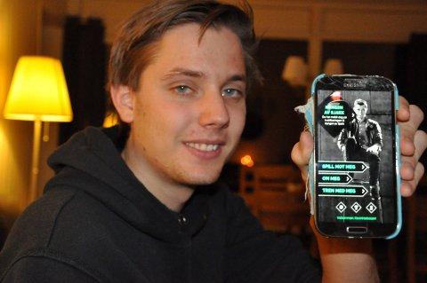 MØTER KONGEN: Kevin Herboen vant en konkurranse og skal møte Magnus Carlsen søndag kveld.