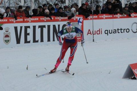 STANG INN: : Barbro Kvåle gikk videre fra prologen med en margin på tre hundredeler.