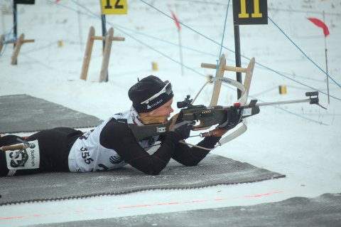 PÅ PALLEN: Hanne Tingelstad hadde en dårlig dag på normaldistansen, men revansjerte seg kraftig på sprinten hvor hun ble nummer to. Arkivfoto: Arvid Holmlund
