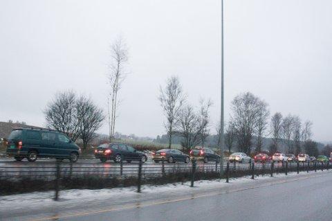 Trafikken i nordgående løp ble snudd, slik at bilene kom seg av E6.