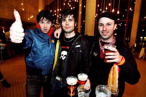 Fred Ove Olsen (f.v), Dag Rune Sunde og Ringo Kid i tribute-bandet Rockers Rollin' er dedikerte Status Quo-tilhengere.