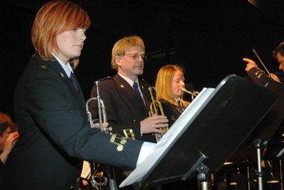 """EMINENTE SOLISTER:   Rita Jonassen, Odd Gunnar Nilsen og Ellen Gullhaug innehar teknikken og musikaliteten som skal til for å fremføre """"Bugler`s Holiday"""" i riktig tempo."""