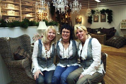 SAMMEN: Tre kvinner står sammen om å drive Hilleborgs hus og håper at mange kunder vil trives: Fra venstre Anne Brith Davidsen Schoonhoven, Bente Nyland og Kjersti Krutnes.  (Foto: Anne-Kristine Bastholm)