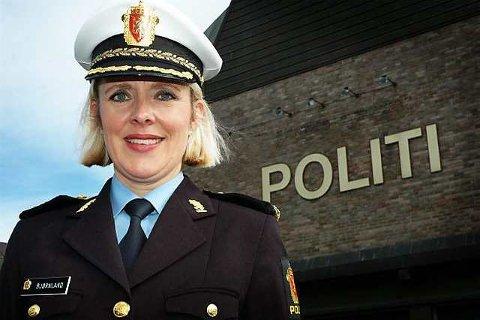 Full støtte: Vestfolds politimester Marie Benedicte Bjørnland gir full støtte til det samstemte politiske miljø i Larvik som krever full bredde på nye E18 fra Sky til Telemarks grense, slik det blir ellers i fylket.