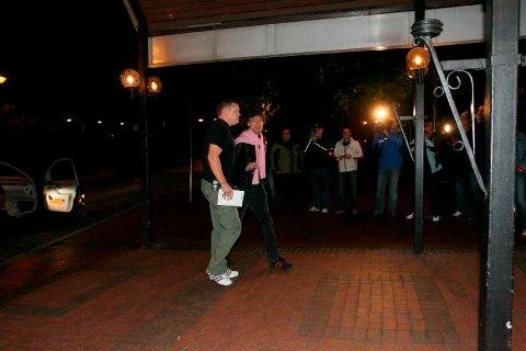 Mick Jagger ankommer SAS-hotellet.
