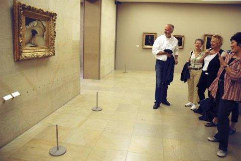 Verdens Opprinnelse. Ikke det mest kjente kunstverket, men publikumsinteressen er det ikke noe å si på.