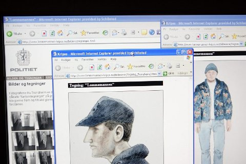 LOMMEMANNEN: Politiet har fått mange tips om Lommemannen etter at de landerte en hjemmeside medegninger, men det har ikke ført til gjennombrudd i etterforskningen.FOTO: SCANPIX