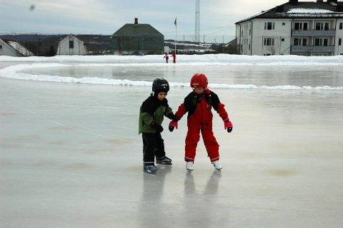 STØTTER HVERANDRE: Det er kjempelurt å støtte hverandre litt, for da går det mye bedre med en gang! Foto: Eva Morken