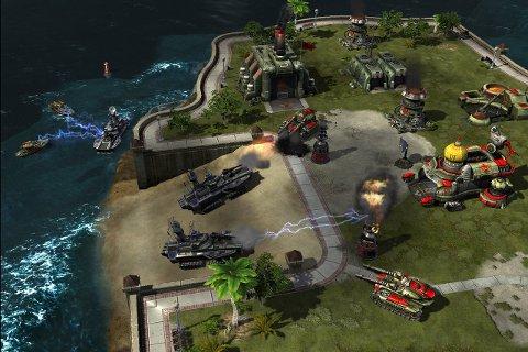 ACTION OG STRATEGI: Red Alert 3 er det nyaste kapitellet i den tradisjonelle Command & Conquer-serien.