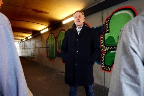 - Vi må ta på alvor at graffiti er en del av ungdomskulturen, mener Gunnar Ramsdal i Fyllingsdalen Ap.