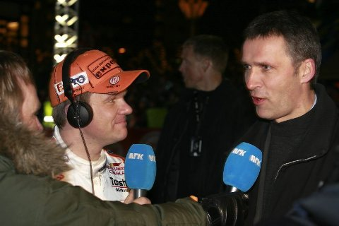 på rally: NRK, Henning Solberg og Jens Stoltenberg var involvert under første VM-runde i Norge for to år siden.