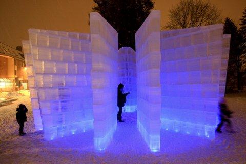 STELLA: Tusenvis har tatt turen til Lillestrøm kultursenter og beskuet isskulpturen.