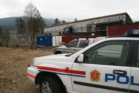 Det ble slått full alarm da minen ble funnet under graving på denne tomten på Tvildemoen (22.04.2009).