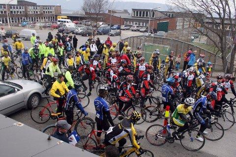 DELTAGELSE: 95 syklister i tur- og trimklassen deltok i årets utgave av turrittet De syv søstre.