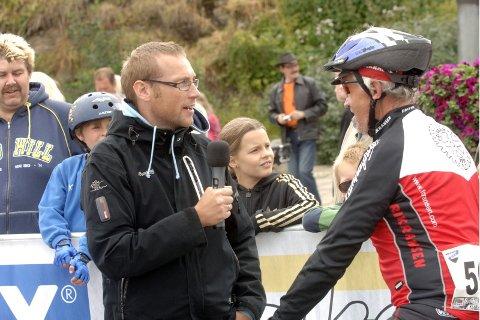 SPREKING: Dag Sture Eine Friis fra Frikransen sykkelklubb i Oslo har løpt over 200 helmaraton i sin karriere. ? Bare så synd at jeg er så dårlig til å sykle, sier sprekingen.
