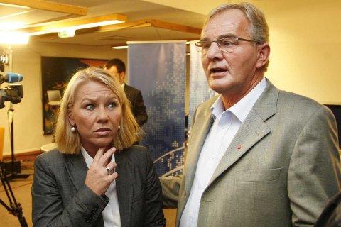 Terje Ohnstad (Ap) og Monica Mæland (H).