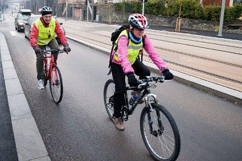 Syklistenes Landsforening mener at syklistene ikke noe på fortauene å gjøre.