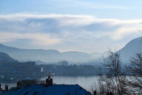 Luftforurensingen over Bergen.