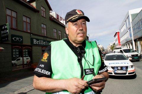 Politiets innsatsleder Gaute Hoff ved ulykkesstedet.