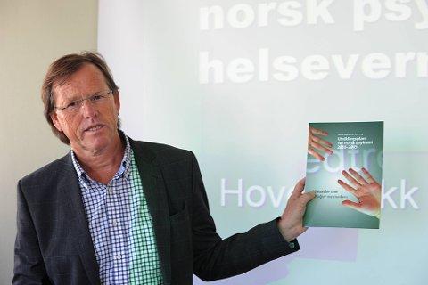 Norsk psykiatrisk forening (Npf) krever 400 nye spesialiststillinger i psykiatrien i løpet av de neste fem årene. Leder Jan Olav Johannessen i Npf la frem foreningens utviklingsplan torsdag. (Foto: Vidar Ruud, ANB)