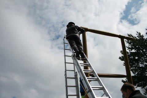 Lennsmann Grutle måler sparken