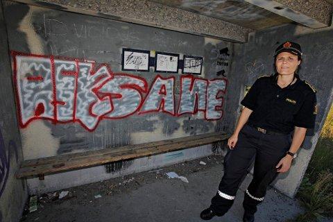 Illustrasjonsfoto. I 2011 utlovet politiet dusør i jakten på taggere i Tromsø.