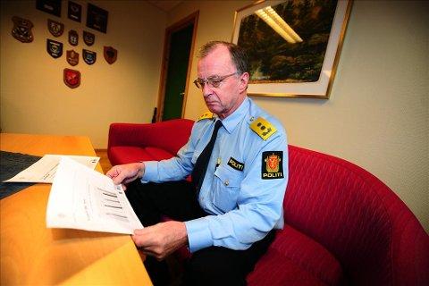 Bekymret: Politimester Arnstein Nilssen i Nordmøre og Romsdal politidistrikt er bekymret over hvor mye tid og ressurser som går med til jobber politiet ikke har kompetanse på.