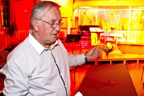 Stolt: Svein Waale er fornøyd med å ha snekret sammen et familiekor av halve menigheten.