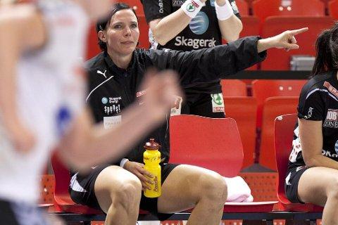 Kan være slutt: Katja Nyberg er trolig ferdig som håndballspiller til sommeren. En trøblete skulder gjør at 32-åringen ikke klarer å levere på banen. (Arkivfoto: Peder Torp Mathisen)