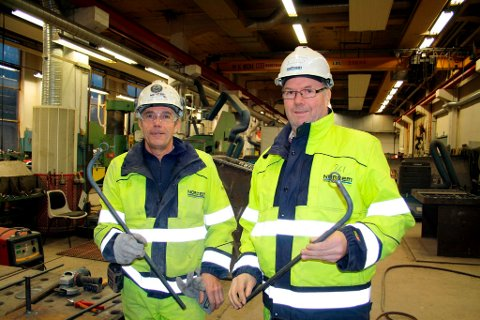 To bakkejern er ferdig laget av Arnt Gulliksen og Tom Jacobsen.
