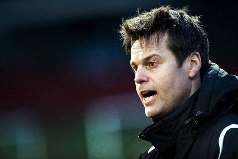 Kjetil Knutsen ledet FK Fyllingsdalen i klubbens første kamp gjennom tidene. Sammenslåingsklubben tapte 1-2 for FK Haugesund, et resultat treneren var svært godt fornøyd med. ARKIVFOTO