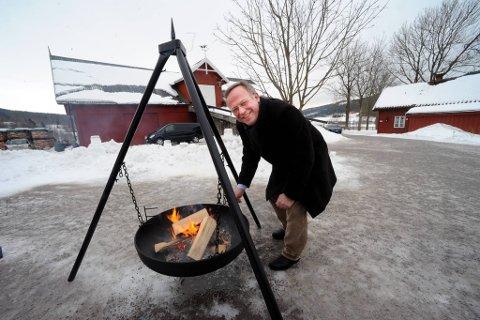 """Landbruksminister Lars Peder Brekk  presenterte en ny nasjonal strategi """"Inn på tunet""""."""