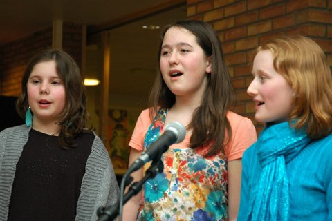 Emilie Gran, Katarina Guttormsen og Nora Søvre synger Adele