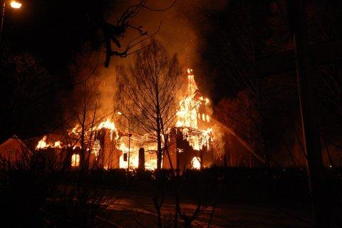 BRANT NED: Det var natt til 11. april 2011 at Østre Porsgrunn kirke brant til grunnen.