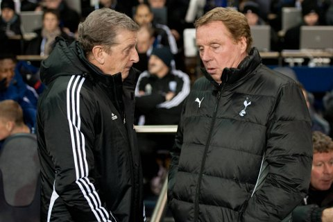 Roy Hodgson (64) ble tirsdag ansatt som engelsk landslagssjef i fotball. Den store forhåndsfavoritten, Harry Redknapp (t.h.), ble dermed forbigått.