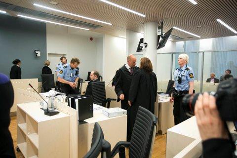 Rettssaken mot Anders Behring Breivik i rettssal 250 i Oslo Tinghus.