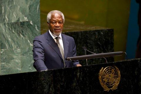 Kofi Annan er FNs og Den arabiske ligas spesialutsending til Syria. Han håper Iran vil bli en del av løsningen på den syriske konflikten.