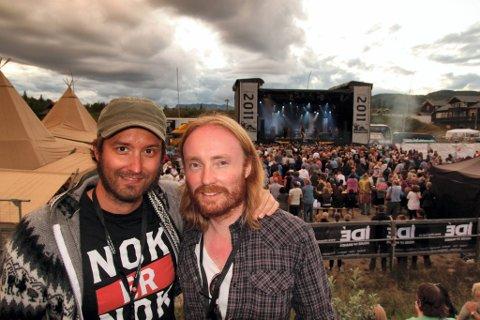 LOKKER TUSENER: Atle Dalen og Trond Rogne i Trollrock lokker tusener til Beitostølen. De har store ambisjoner for denne festivalen.ARKIVBILDE