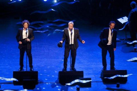 Store: De tre tenorene imponert alle på sin måte. F.v. Marius Roth Christensen, Thomas Ruud og Jan Erik Fillan.
