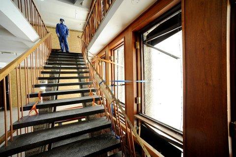 Justisdepartementet mistet sine lokaler etter bombeeksplosjonen i regjeringskvartalet i fjor sommer.