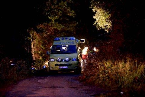Store redningsstyrker er i sving på Askøy.
