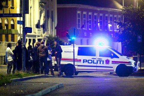 Vold: Noen voldsepisoder har det vært, både i Larvik og Stavern, men generelt har politiet i Larvik hatt en rolig sommer når det gjelder voldssaker. (Arkivfoto: Peder Torp Mathisen)