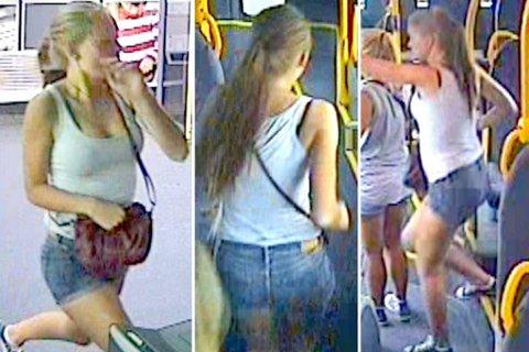 Politiet har offentliggjort disse bildene i det Sigrid Schjetne går på 69-bussen på Tveita stasjon i Oslo lørdag 4. august kl 19.45. Bildene offentliggjøres for å vise hva hun hadde på seg den kvelden hun forsvant. Politiet håper bildene kan bidra til flere tips, og være til hjelp for de som leter. Foto: Politiet/ANB