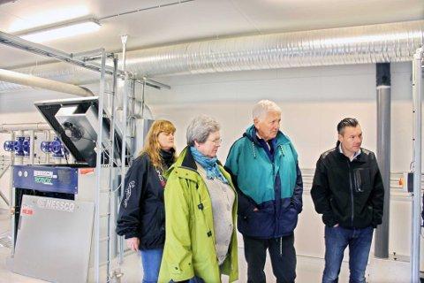 Her er politikerne i teknisk hovedutvalg på Tjøme på befaring på renseanlegget tidligere i våres.