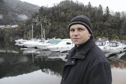 Gjermund Flage har klekket ut ideen om båtutleie sammen med forretningspartner Oddleif Hatlem.